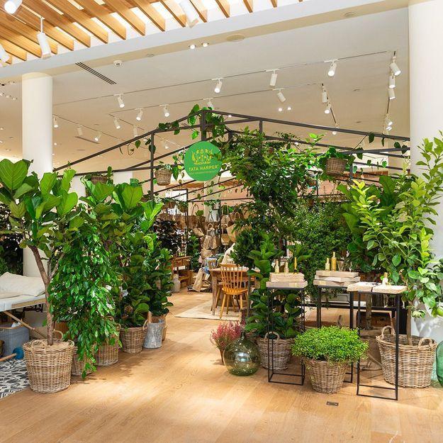 #ELLEBeautySpot : la « Green House » de Tata Harper au Bon Marché