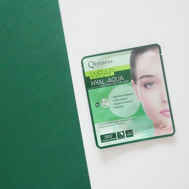 Un masque Wrap Hyal-Aqua de Qiriness offert avec votre magazine ELLE