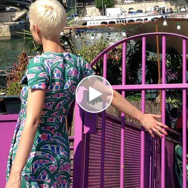 Elsamuse et son vernis Infaillible dans les rues de Paris