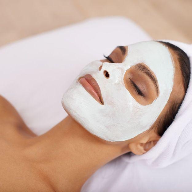 masque visage argile blanche