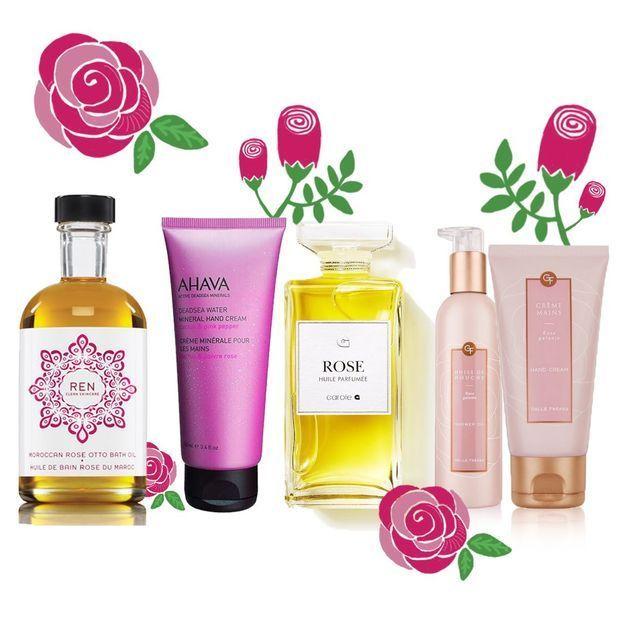 12 produits de beauté autour de la rose