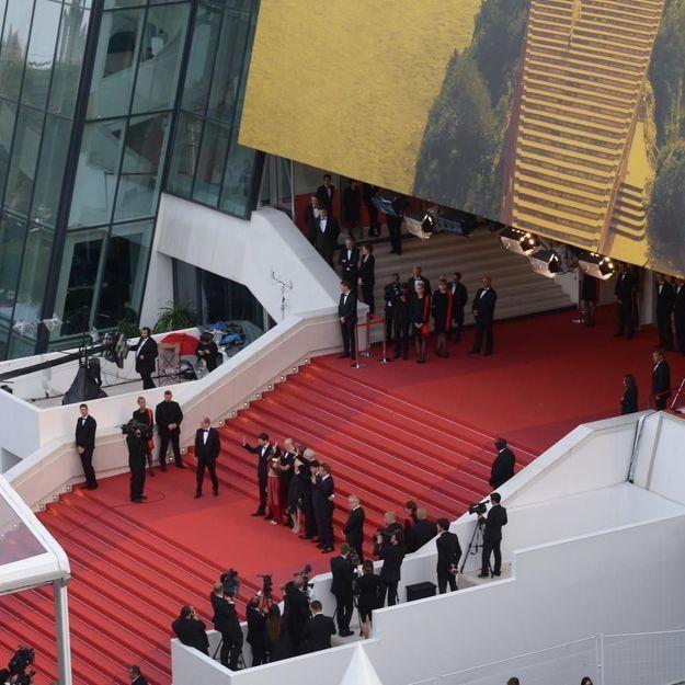 Y'a qu'à Cannes que la plus grande actrice française doit faire la queue