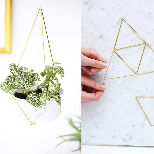 Fabriquez une suspension de plante en laiton