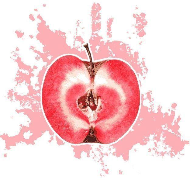 Repéré : la nouvelle pomme Redlove totalement rouge