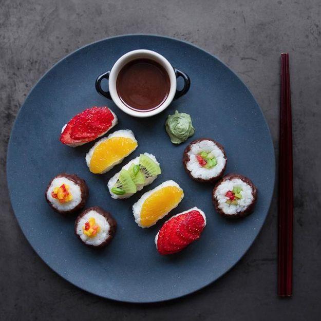 Les sushis sucrés, le dessert idéal