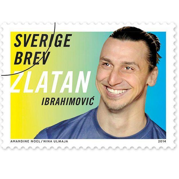Zlatan Ibrahimovic : un (modeste) timbre à son image