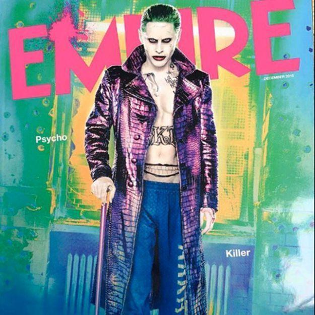 Jared Leto surprenant dans la peau du Joker en couverture d'Empire