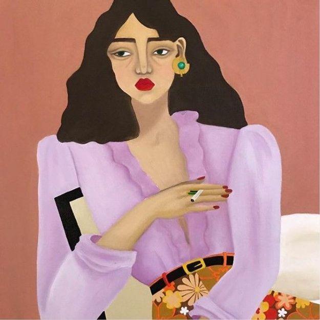 Léa Augereau : une peintre à la pointe de la mode