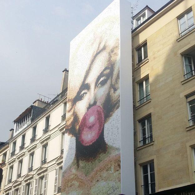 « Miss Bubble » : une Marilyn géante exposée sur les murs de Paris !