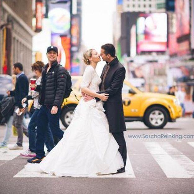 Leur cliché de mariage « photobombé » par l'acteur Zach Braff