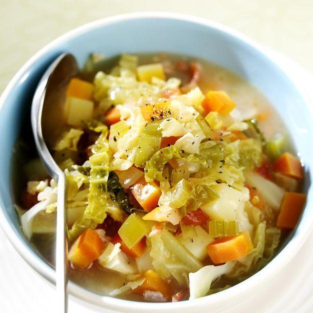 chou soupe régime alimentaire liste