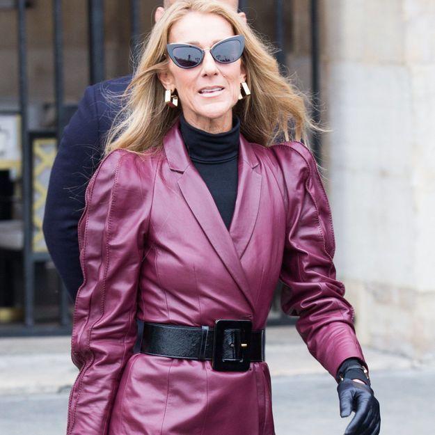 Céline Dion, plus rock que jamais en total look cuir