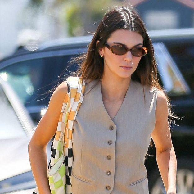 Kendall Jenner : on copie sa façon de porter le gilet d'homme