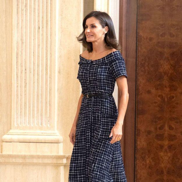 Letizia d'Espagne : sa robe Zara à moins de 20 euros parfaite pour un été au bureau