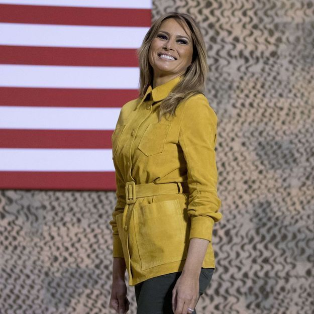 Melania Trump : baroudeuse chic en boots Timberland
