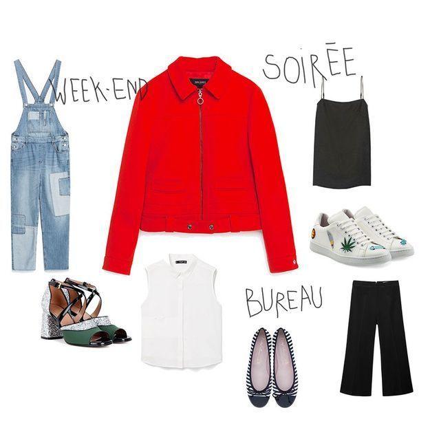 Comment porter une veste rouge ce printemps