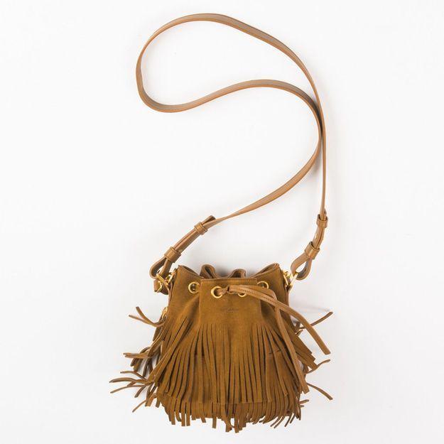 #ELLEGiveItToMe : le sac seau Emmanuelle de Saint Laurent, proposé par l'e-shop Département Féminin
