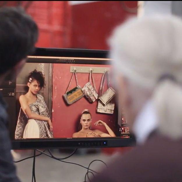 Exclu : Cara Delevingne sportive sexy dans le making-of de la prochaine campagne Chanel