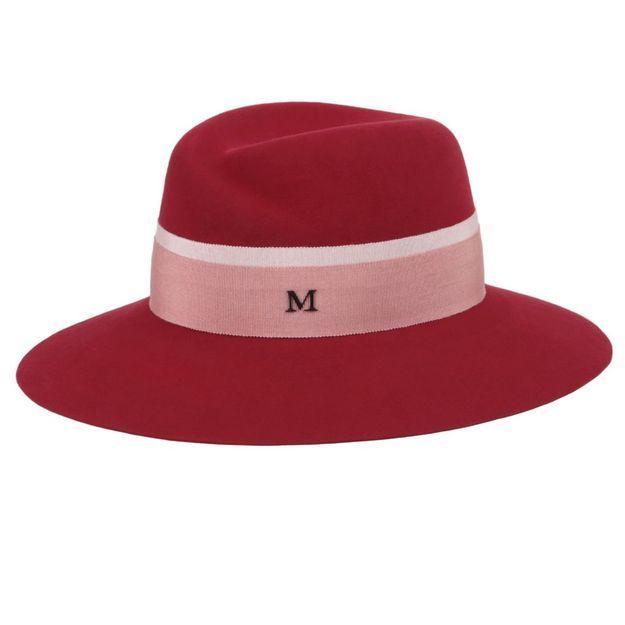 It pièce : le chapeau rond rouge de Maison Michel