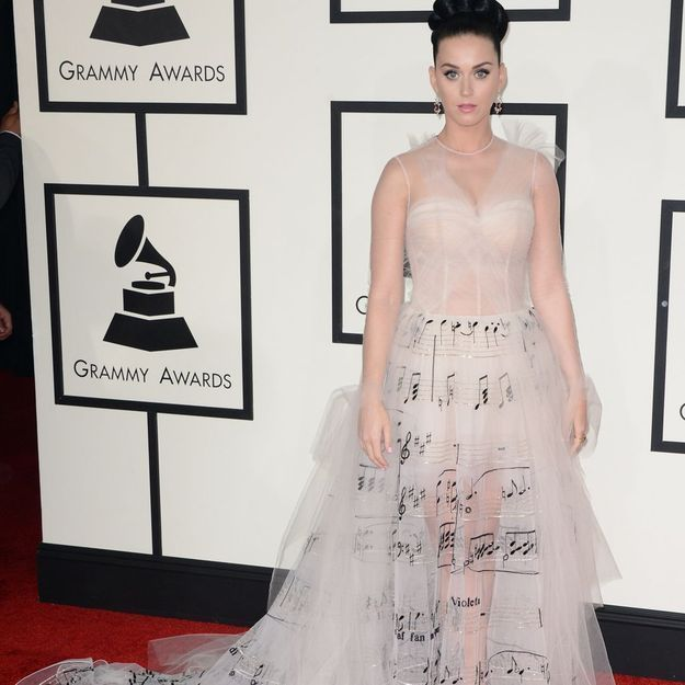 La robe musicale de Katy Perry aux Grammy Awards