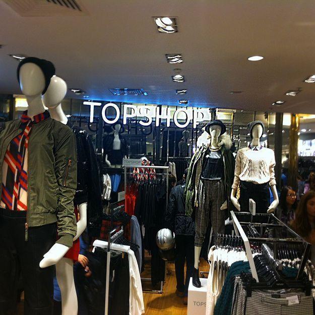 Topshop à Paris, on était à l'ouverture