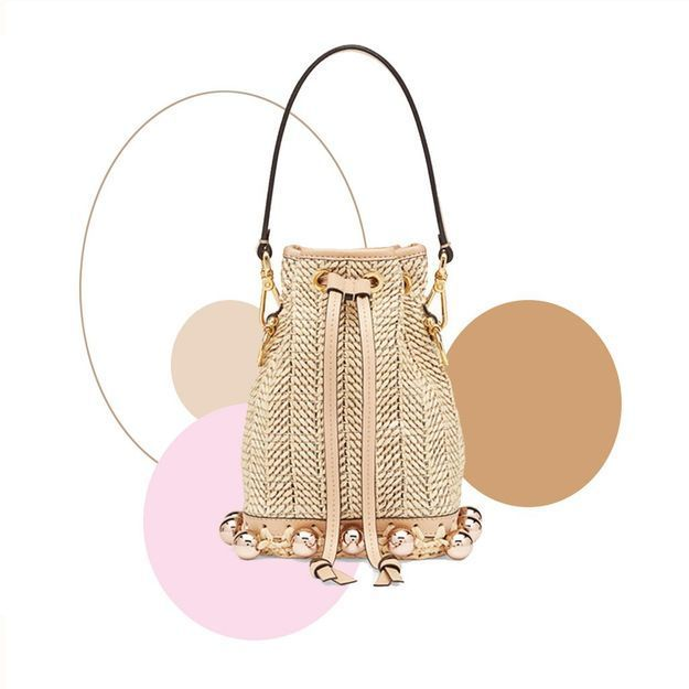 #ELLEfashioncrush : le sac seau en raphia Fendi