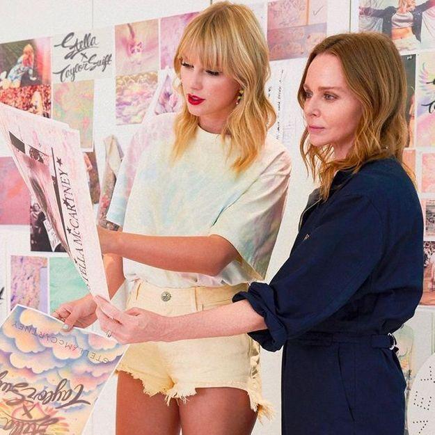 #ElleFashionCrush : Taylor Swift et Stella McCartney dévoilent une collection capsule éco-responsable