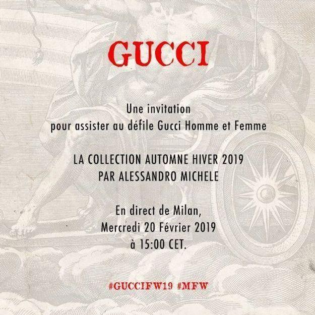 Fashion Week de Milan : découvrez le défilé Gucci à 15 h