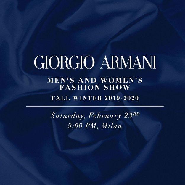 Fashion Week de Milan : suivez le défilé Giorgio Armani en live