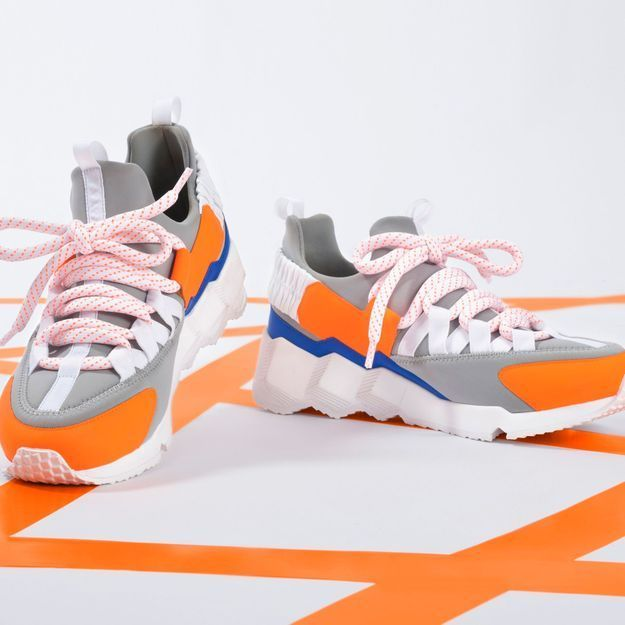 Les dad shoes Pierre Hardy Neon Trek, les sneakers qui nous électriseront cet automne