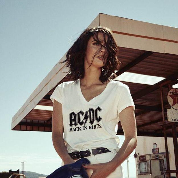 #ELLEFashionCrush : le t-shirt ACDC X IKKS que l'on rêve de porter à un festival