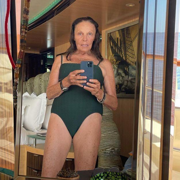 Pourquoi le selfie en maillot de bain de Diane Von Fürstenberg fait du bien à la mode