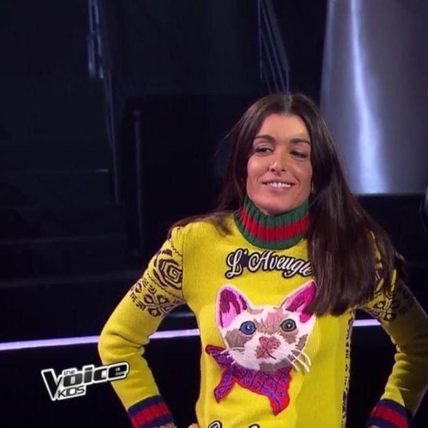 « The Voice Kids »: Jenifer étonne une nouvelle fois avec son pull chat Gucci