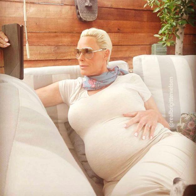 A 54 ans, Brigitte Nielsen vient d'accoucher de son cinquième enfant