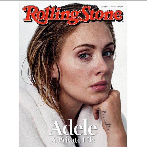 Adele se dévoile au naturel en couverture de Rolling Stone