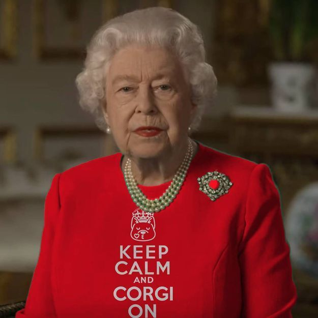 Après le discours de la reine Elizabeth II, sa robe verte détournée sur Twitter