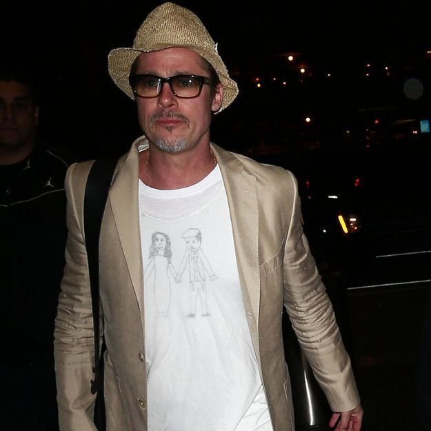 Brad Pittdévoile un T-shirt dessiné par sa fille