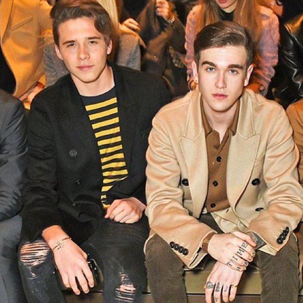 Brooklyn Beckham rencontre le fils Adjani à la Fashion Week de Londres