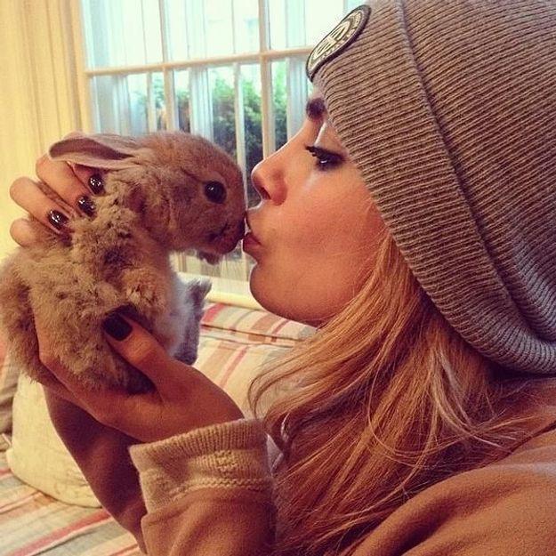 Cara Delevingne, son lapin fait le buzz sur Internet