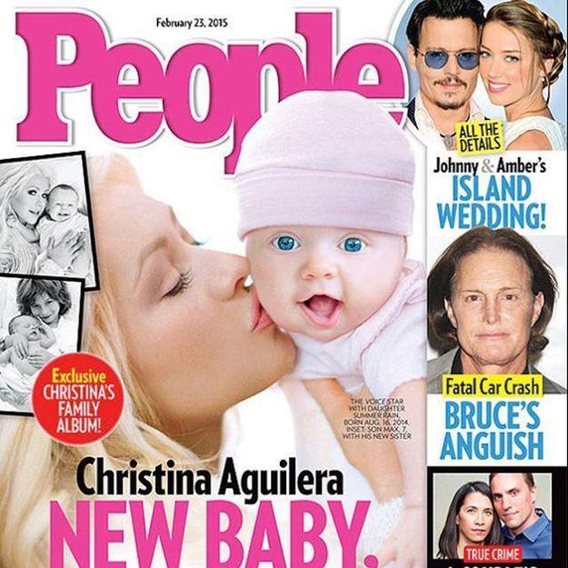 Christina Aguilera dévoile le visage (photoshoppé) de sa fille