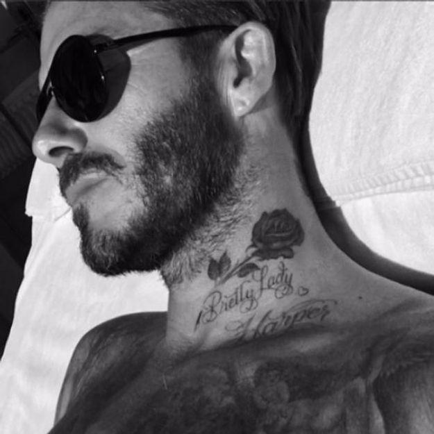 David Beckham : son nouveau tatouage est pour Harper