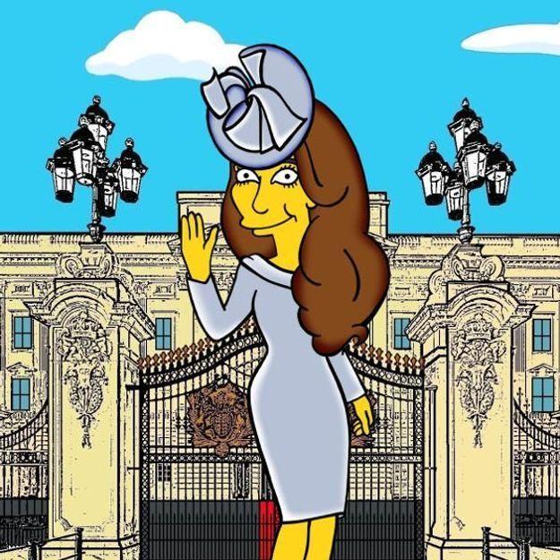Kate Middleton, transformée en héroïne des Simpsons !
