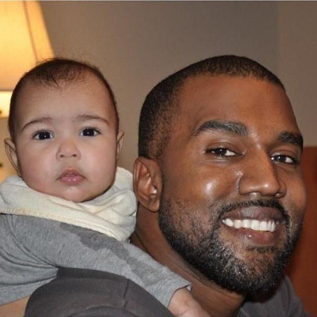 Kim Kardashian : 1ère photo de Kanye West avec leur fille
