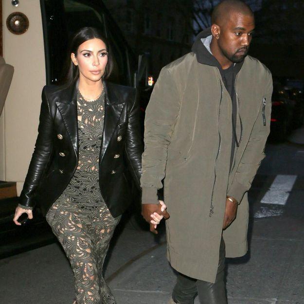 Kim Kardashian et Kanye West à Paris, préparent leur mariage