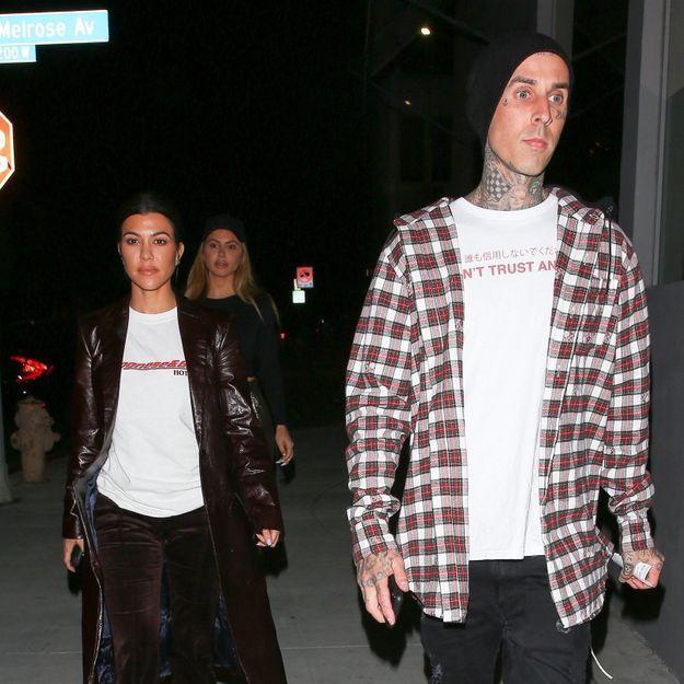 Kourtney Kardashian officialise son idylle avec Travis Barker