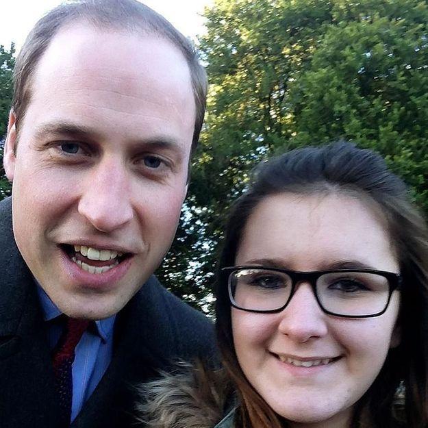 Le selfie royal du prince William avec une inconnue