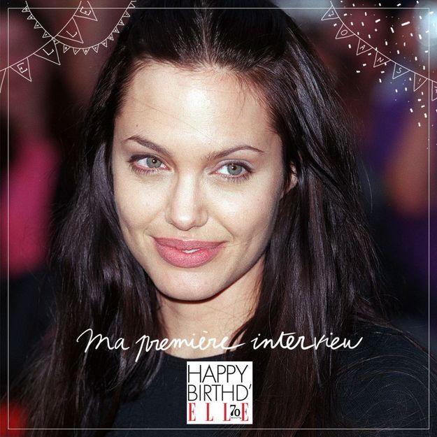 Ma première interview dans ELLE: Angelina Jolie en 2000