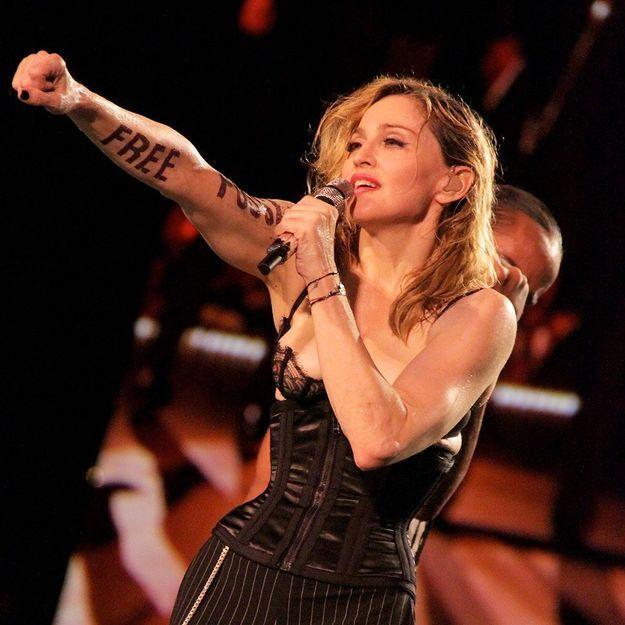 Madonna et les Pussy Riot en concert à New York