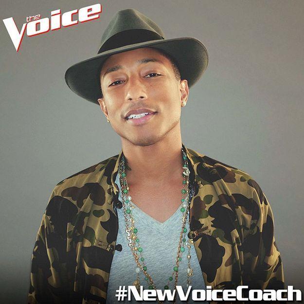 Pharrell Williams devient coach pour The Voice