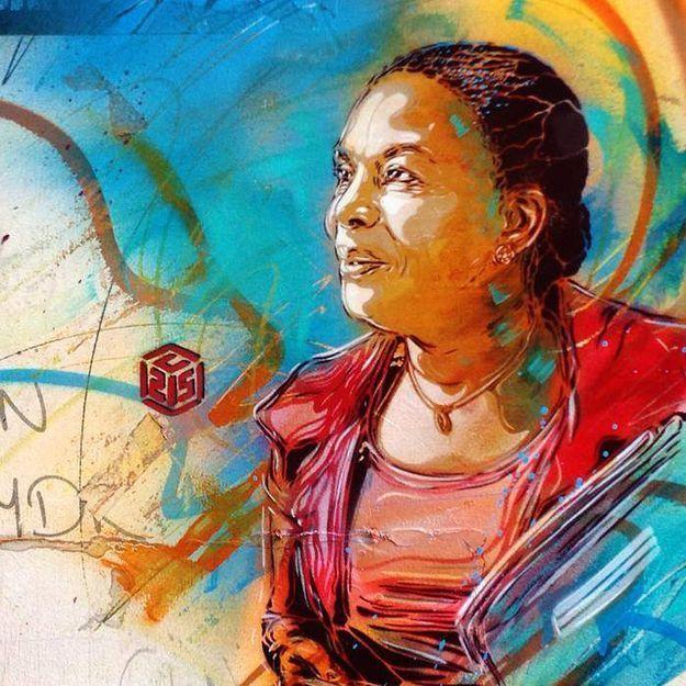 Christiane Taubira, nouvelle égérie des graffeurs